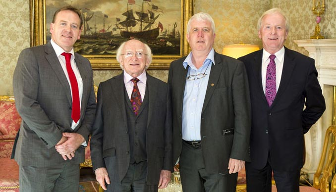 President Higgins and Abcon Directors
